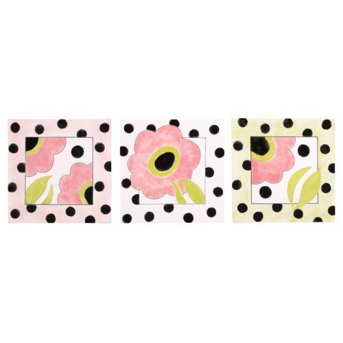Cotton Tale 3-pc. Poppy Wall Art Set