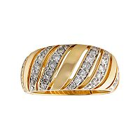 14k Gold 1/2 ctT.W. Diamond Wave Ring