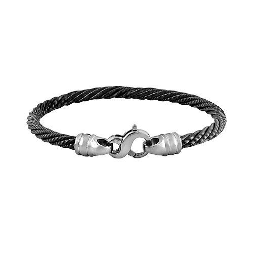 STI by Spectore Black & Gray Titanium 8-in. Cable Bracelet