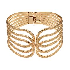 Loop Hinged Bangle Bracelet