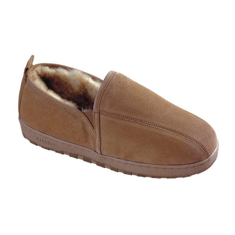 LAMO Beige Sheepskin Slippers – Men