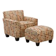 Handy Living Lincoln Park Chair and Ottoman Set