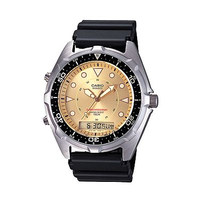Casio Stainless Steel Analog and Digital Chronograph Watch - Men