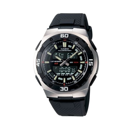 Casio Watch - Men's Black Resin Analog and Digital Chronograph
