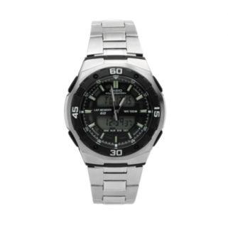 Casio Men's Sport Stainless Steel Analog & Digital Chronograph Watch - AQ164WD-1AV