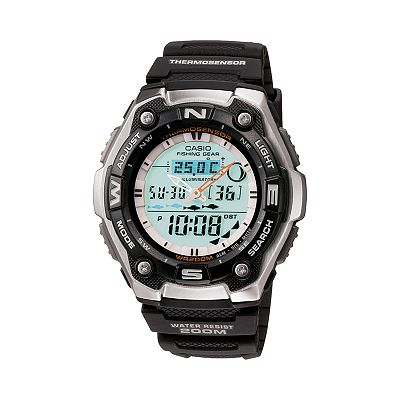 Casio Fishing Gear Stainless Steel Analog and Digital Sports Watch - Men