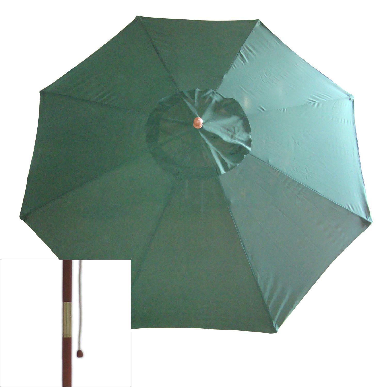Market Patio Umbrella. Hunter Green Autumn Red