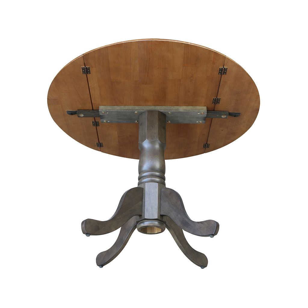 Round Dual Drop Leaf Table