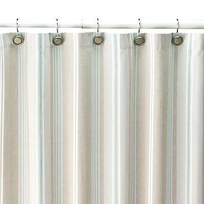 SONOMA life + style Tiburon Striped Fabric Shower Curtain
