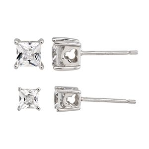 DiamonLuxe Sterling Silver 2.17-ct. T.W. Simulated Diamond Stud Earring Set