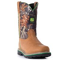 John Deere Men's Slip-Resistant Waterproof Work Boots