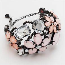 Simply Vera Vera Wang Jet-Tone Floral Bracelet