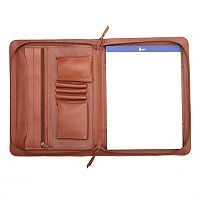 Royce Leather Executive Zip-Around Padfolio