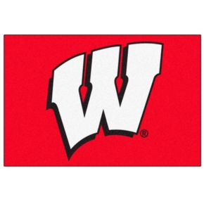 FANMATS Wisconsin Badgers Rug
