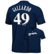 Majestic Milwaukee Brewers Yovani Gallardo Tee