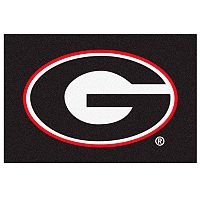FANMATS Georgia Bulldogs Black Rug