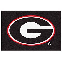FANMATS Georgia Bulldogs Black Rug