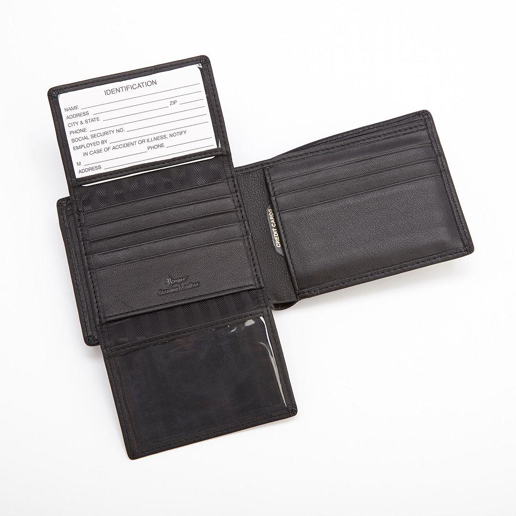 Royce Leather Euro Commuter Bifold Wallet