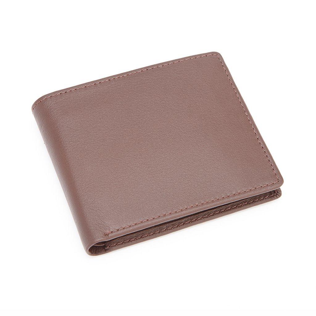 Royce Leather Commuter Bifold Wallet