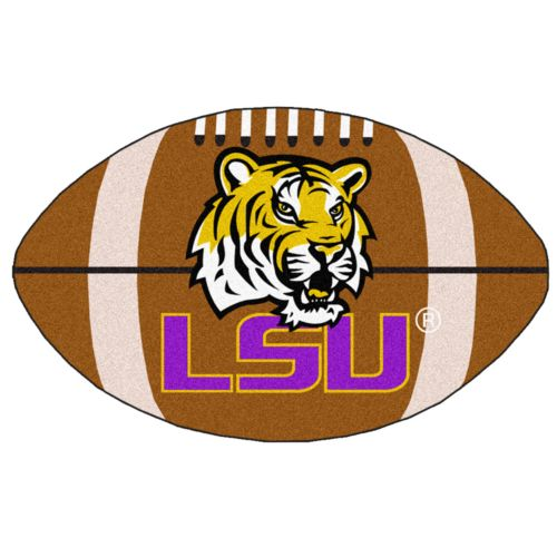 FANMATS Louisiana State Tigers Football Rug