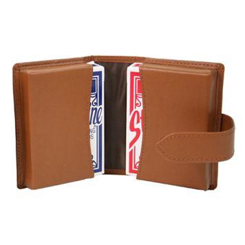 Royce Leather Double Decker Card Case