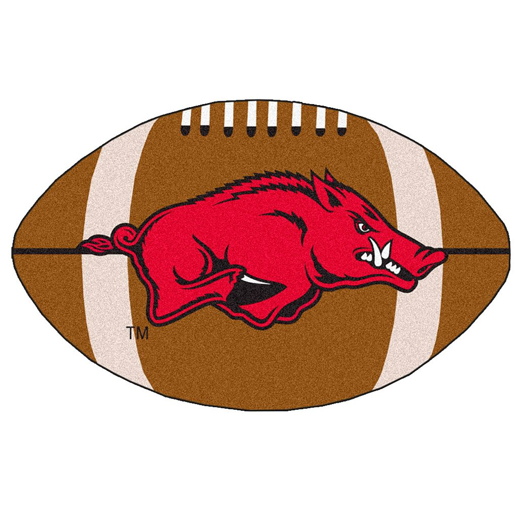 FANMATS Arkansas Razorbacks Football Rug