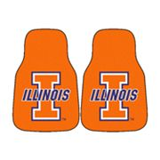 FANMATS 2-pk. Illinois Fighting Illini Car Floor Mats