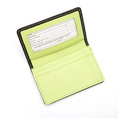 Royce Leather Deluxe ID Business Card Case