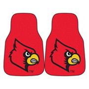 FANMATS 2-pk. Louisville Cardinals Car Floor Mats