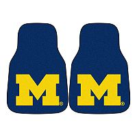 FANMATS® 2-pk. Michigan Wolverines Car Floor Mats