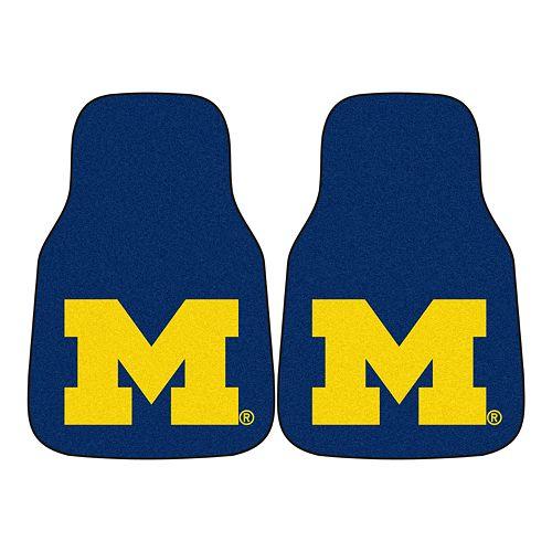 FANMATS® 2-pk. Michigan Wolverines Car Floor Mats