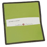 Royce Contrast Stitch Leather Business Card Case