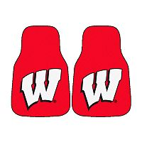 FANMATS® 2 pkWisconsin Badgers Car Floor Mats