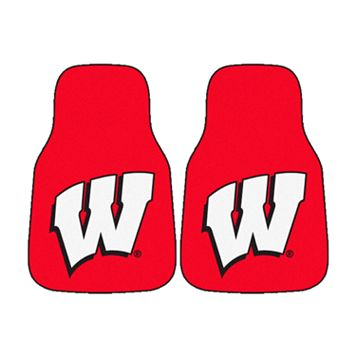 FANMATS® 2-pk. Wisconsin Badgers Car Floor Mats