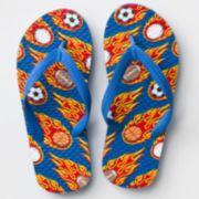 Sport Flames Flip-Flops