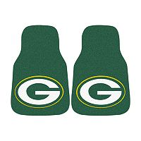 FANMATS® 2-pk. Green Bay Packers Car Floor Mats