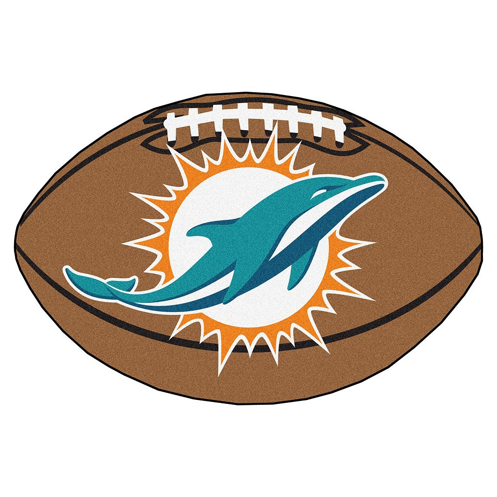 FANMATS Miami Dolphins Football Rug