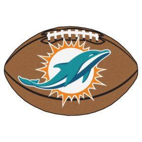 FANMATS Miami Dolphins Football Rug