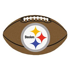 FANMATS Pittsburgh Steelers Football Rug
