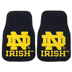 FANMATS® 2 pkNotre Dame Fighting Irish Floor Mats