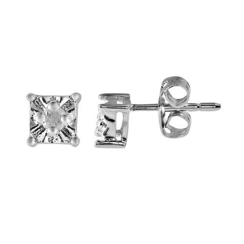 Sterling Silver 1/10-Ct. T.W. Diamond Stud Earrings
