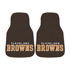 FANMATS® 2 pkCleveland Browns Car Floor Mats