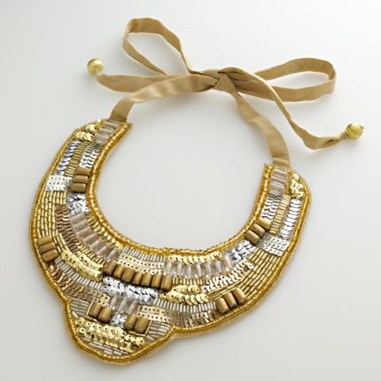 Apt. 9 Two-Tone Beaded Sequin Bib Necklace