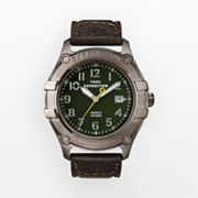 Timex Expedition Trail Series Silver Tone Leather Watch - Men