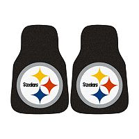 FANMATS® 2 pkPittsburgh Steelers Car FloorMats
