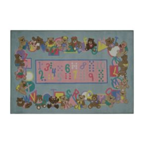 Fun Rugs Supreme Teddies and Letters Rug - 3'3'' x 4'10''