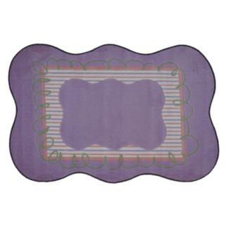 Fun Rugs Supreme Purple Scalloped Rug
