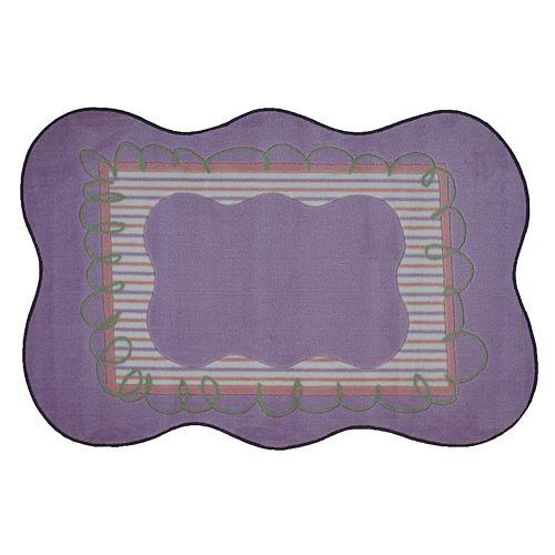 Fun Rugs™ Supreme Purple Scalloped Rug