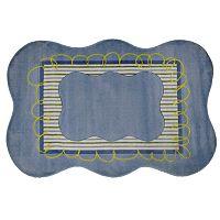 Fun Rugs™ Supreme Blue Scalloped Rug
