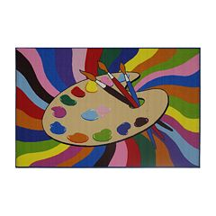 Fun Rugs™ Fun Time Painting Time Rug - 4'3'' x 6'6''